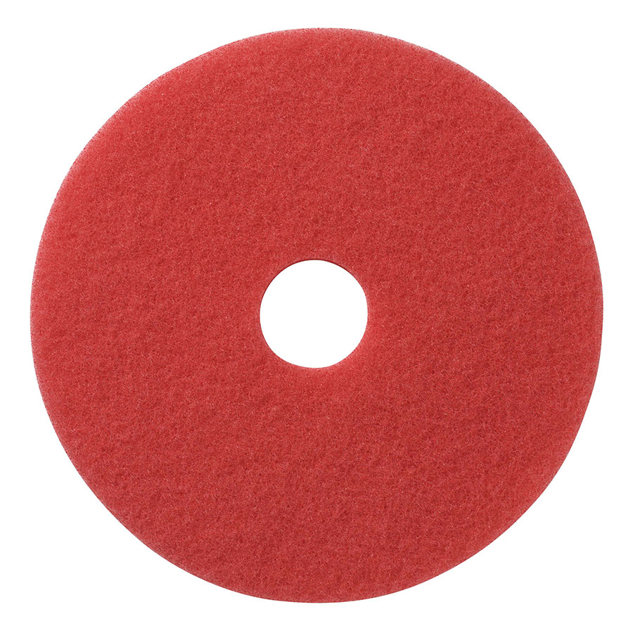 "404420 - 20"" RED SPRAY BUFF FLOOR PAD 5/CS"